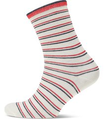 dory thin stripe sock lingerie socks regular socks röd becksöndergaard