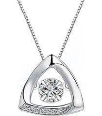 collar pequeño triangulo casual blanco arany joyas