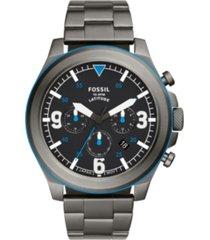 fossil men's latitude gunmetal bracelet watch 50mm