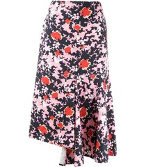 pink & black midi skirt