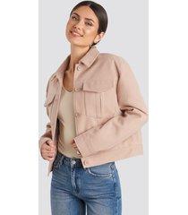na-kd classic big pocket short jacket - pink
