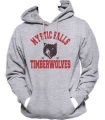 mystic falls timberwolves the vampire diaries hoodie s-3xl light steel