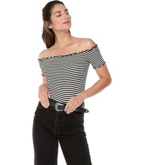 blusa blanco-negro ambiance