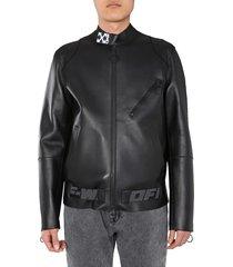 off-white biker jacket