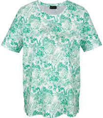 shirt m. collection groen::wit