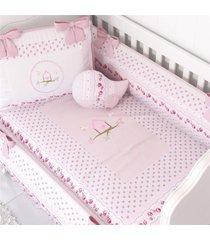 duvet edredom de berã§o menina patchwork rosa grã£o de gente rosa - rosa - menina - dafiti