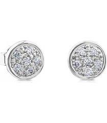 aretes super micro de oro blanco y diamantes