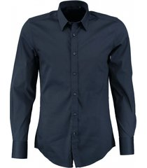 antony morato blauw super slim fit stretch overhemd valt kleiner