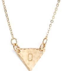 nashelle 14k-gold fill initial triangle necklace in 14k gold fill d at nordstrom