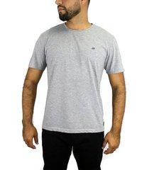 camiseta básica gris para hombre delascar tsb001
