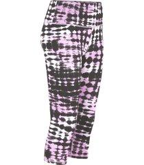 leggings a pinocchietto modellanti in poliestere riciclato livello 2 (viola) - bpc bonprix collection