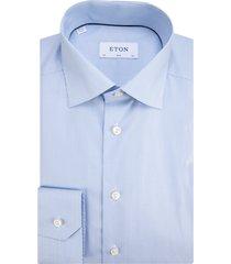 eton overhemd met lange mouwen licht blauw