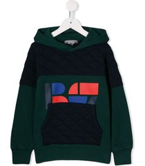 bonpoint quilted hoodie - green