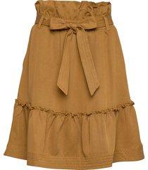 aria drapey kort kjol brun arnie says