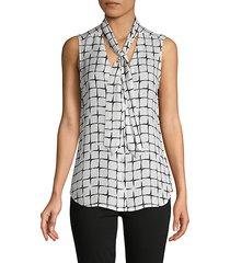 natalia tie-neck silk blouse