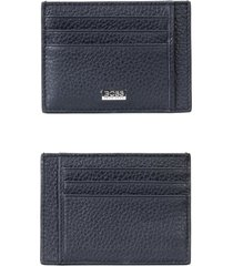 boss crosstown rfid leather card case in navy at nordstrom