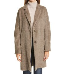 women's herno alpaca car coat, size 6 us - brown