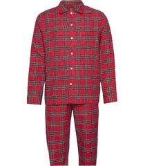 flannel pajama set pyjama rood gap