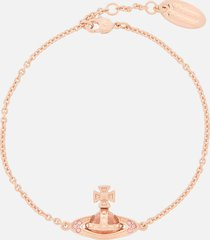 vivienne westwood women's pina bas relief bracelet - pink gold light rose