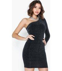 nly trend one shoulder sparkling dress fodralklänningar