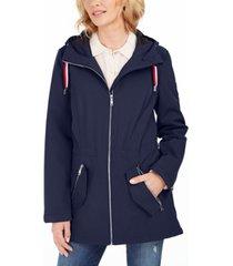 tommy hilfiger hooded water-resistant anorak jacket
