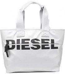 cartera f bold shopper fl shopping bag plateado diesel
