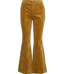 pzcayla pant utsvängda byxor gul pulz jeans
