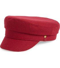 women's frye fiddler merino wool cap, size small/medium - burgundy