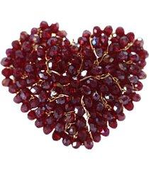 anillo pasionaria baño oro rojo bijulovers