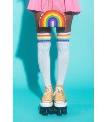 akira gay af rhinestone over the knee tube socks