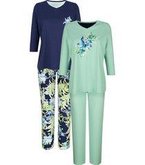 pyjama's per 2 stuks harmony marine::lichtgroen