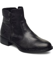 73462-00 shoes boots ankle boots ankle boot - flat svart rieker