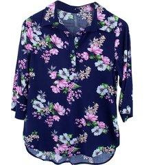 blusa chiffon flores bolero - 81110359