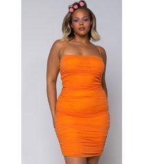 akira plus love me or hate me ruched thin strap mini dress