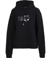 dsquared2 woman black icon tape hoodie