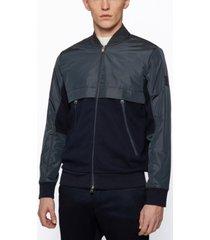 boss men's hybrid zip regular-fit sweatshirt