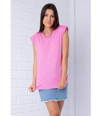 blusa  pkd muscle tee rosa chiclete - rosa - feminino - dafiti