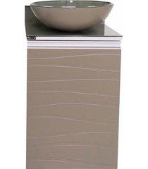 toucador com cuba em mdf marsala 45x93cm branco e fendi