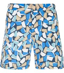 orlebar brown bulldog rob wyn yates swim shorts - blue