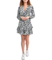 bcbgeneration animal-print ruffled dress