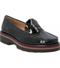zapato de vestir cuero mujer stones negro hush puppies