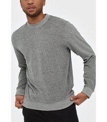 selected homme slhcleve crew neck sweat b tröjor ljus grå