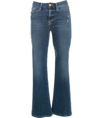 le crop mini boot jeans cropped w/ribs