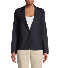 zadig & voltaire women's victor embellished amour wool blazer - navy - size 34 (xs)