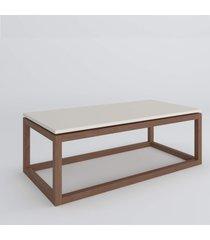 mesa de centro coraline off white amãªndoa casah - off-white - dafiti