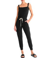 n:philanthropy blueland sleeveless jumpsuit, size small in black cat at nordstrom