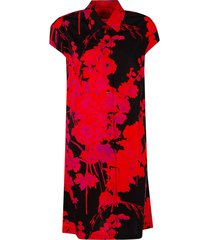 dries van noten floral print capped sleeve dress