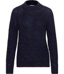 monty sweater stg gebreide trui blauw iben