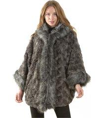 abrigo italiano piel gris bous