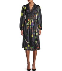krystal botanical print dress